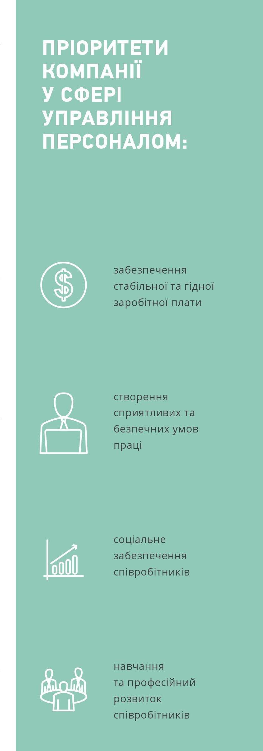 Пріорітети компанії у сфері управління персоналом